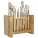 Hardwood Paintbrush Stand With 24 Holes