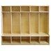 ECR4kids 5 Section Coat Locker With Bench