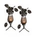<strong>Mikasa</strong> Rustic Flowers Metal Sconce (Set of 2)