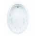 "Basics 60"" x 42"" Oval Whirlpool Tub with End Drain"