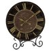 Infinity Instruments Black & Gold Table Clock