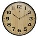 Arbor Wall Clock with Dark Wood Case