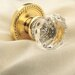 Filmore Privacy Crystal Knob with Rope Style Rose