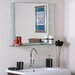 <strong>Decor Wonderland</strong> Frameless Aydin Wall Mirror with Shelf