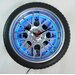 "18"" Tire Wall Clock with Blue Neon Light"