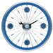 Bike Wall Clock with Aluminum Rim in Blue