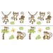 <strong>CoCo & Company</strong> Monkey Time Wall Decal