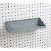 LocHook 18 In. W x 6-1/2 In. Deep Gray Epoxy Powder Coated Steel Shelf for LocBoard