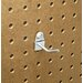 <strong>Triton Products</strong> DuraHook 1 In. Single Rod 30 Degree Bend 3/16 In. Dia. Zinc Plated Steel Pegboard Hook for DuraBoard, 10 Pack
