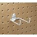 DuraHook 2-3/4 In. Double Rod 80 Degree Bend 1/4 In. Dia. Zinc Plated Steel Pegboard Hook for DuraBoard, 10 Pack