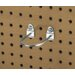 DuraHook 2-7/8 In. L, 1-3/4 In. I.D. Zinc Plated Steel Double Mount U Shape Pegboard Hook for DuraBoard, 5 Pack