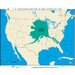 Universal Map U.S. History Wall Maps - U.S. Expansion & Alaska Purchase