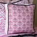 Caden Lane Luxe Pink Square Cotton Pillow