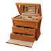 Juno Drop Front Jewelry Box in Oak