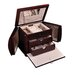 Odessa Drop Front Jewelry Box in Mahogany