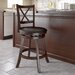 "<strong>dCOR design</strong> Woodgrove Cross Back 29"" Swivel Bar Stool with Cushion"