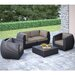 dCOR design Seattle 5 Piece Lounge Seating Group with Cushion