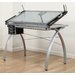 "<strong>Futura Station Glass 43""W x 24""D Drafting Table</strong> by Studio Designs"