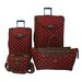 <strong>Fleur De Lis 4 Piece Luggage Set</strong> by American Flyer