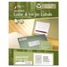 Recycled Laser and InkJet Labels, 2/3 x 3 7/16, Assorted, 750/Pack