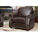 <strong>Abbyson Living</strong> Fairfax Top Grain Leather Armchair