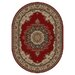 <strong>Sensation Red Rug</strong> by Tayse Rugs