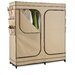 Double Door Storage Closet in Light Brown