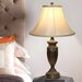 """Hazelwood Home Urn Shaped 24.5"""" H Table Lamp with Bell Shade"""