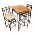 <strong>Hazelwood Home</strong> Barcelona 3 Piece Counter Height Pub Table Set