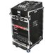 DJ / Mi Slant Rack System - 11U Slant Rack Depth / 16U Vertical Rack with Casters