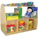 Two Sided Arch Storage with Medium - Sized Shelf and Small Shelf
