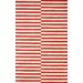 nuLOOM San Miguel Red/Ivory Scully Area Rug