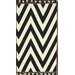Flatweave Black Wave Border Rug