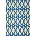 Flatweave Royal Blue Twizzle Rug