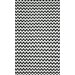 nuLOOM Brilliance Black Mini Chevon Area Rug