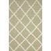 Flatweave Tan Drawn Trellis Rug
