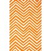 Veranda Orange Chevron Rug