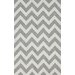 nuLOOM Homestead Soft Grey Meredith Chevron Area Rug