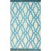 <strong>nuLOOM</strong> Brilliance Blue Elegant Trellis with Fringe Rug