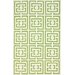 <strong>Flatweave Green Locking Squares Rug</strong> by nuLOOM