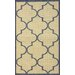 <strong>Villa Outdoor Blue Double Trellis Rug</strong> by nuLOOM