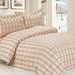 <strong>French Soft Brown Plaid Luxurious 6 Piece Duvet Set</strong> by Violet Linen