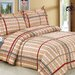 <strong>French Brown Plaid Luxurious 6 Piece Duvet set</strong> by Violet Linen