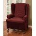 <strong>Maytex</strong> Reeves Stretch One Piece Wing Chair T-Cushion Slipcover