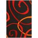 Contempo Black/Red Rug