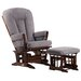 <strong>Soft Microfiber Two Post Multi Position Recline Glider and Ottoman</strong> by Dutailier