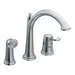 Savvy One Handle Widespread High Arc Kitchen Faucet with Convenient Side Spray
