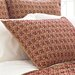 Pine Cone Hill Cross-Stitch Quilted Sham