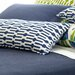 Graphic Traffic Links Double Boudoir Decorative Pillow in Indigo