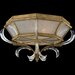 Fine Art Lamps Beveled Arcs Gold Two Light Flush Mount